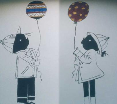 Muurschildering Jip en Janneke